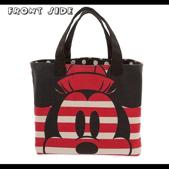 c33909f471e9 Disney Handbags - Disney Mickey   Minnie Red White XL Canvas Tote